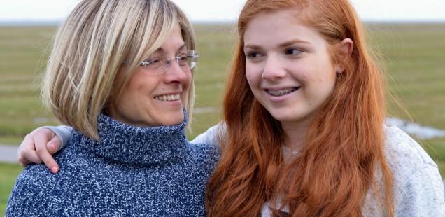 Samar mit Tochter Merle.